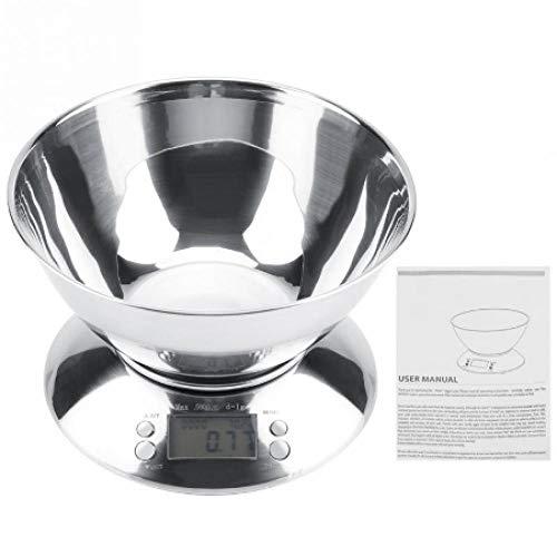 2019 heißer verkauf edelstahl küche digitalwaage lebensmittel wiegen elektronische waage alarm timer temperatur mit schüssel (Batterie Säure Für Den Verkauf)