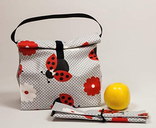 Wiederverwendbare Tasche. Tasche für tupper. Eco-Tasche. Tasche für Lebensmittel. Sandwich-Beutel.Wasserdichte Tasche mit Griff. Lunchpaket.