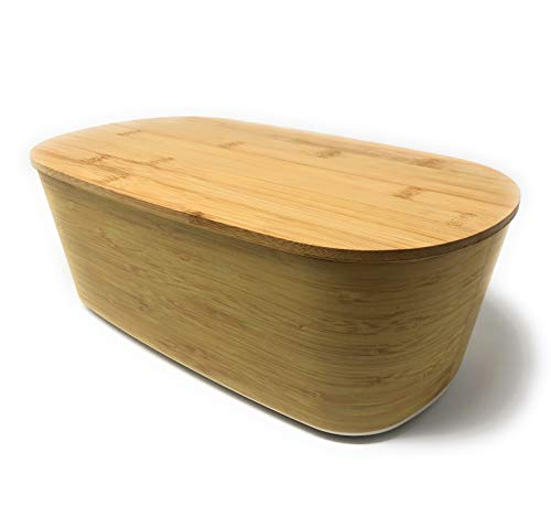 MGE - Brotkasten - Brotkasten - große Brotbox - Bambus