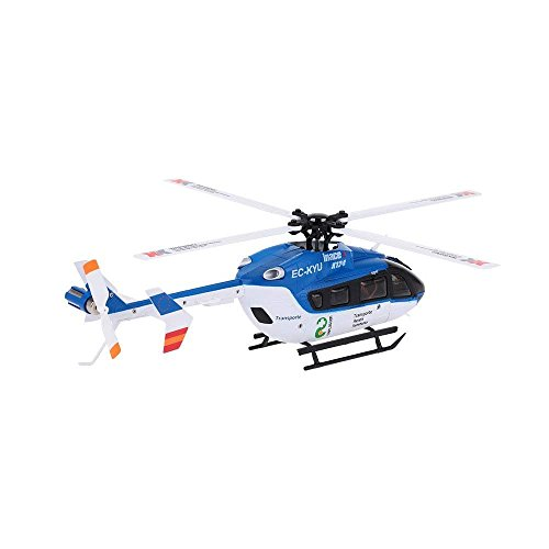 LENRUE RC Helicopter Seal EC145 K124 Avio Tiger 6 Channel 2.4Ghz Helicopter