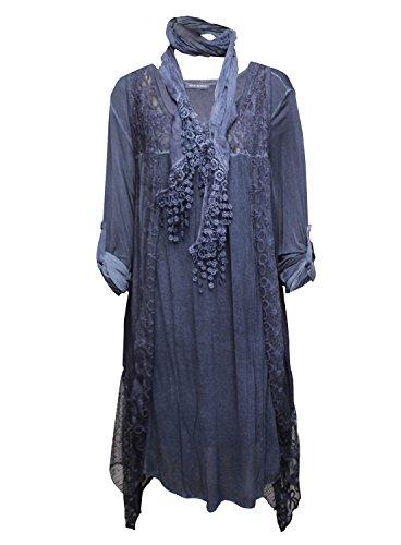 Robe deux pièces avec Cheich assorti - Taille unique Bleu