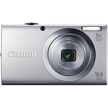 Canon PowerShot A2400 IS Digital Camera - Silver (16.0 MP, 5x Optical Zoom) 2.7 inch LCD