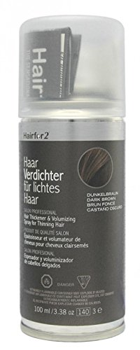 Hairfor2 Haarverdichter Spray, dunkelbraun, 1er Pack, (1x 100 ml)