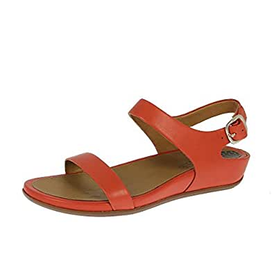 FitFlop Womens Banda Orange Leather Sandals 40 EU
