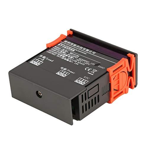 MH1210A AC/DC 12 V Thermostatregler Digital LCD Kühlschrank Temperaturregler Thermoelementregler mit Sensor (Farbe: Grau) -