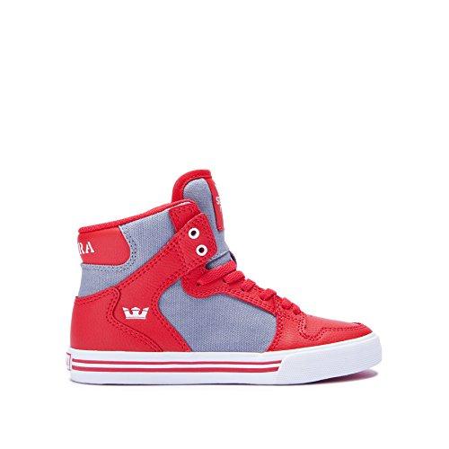 Chaussures SUPRA VAIDER Red dk grey white