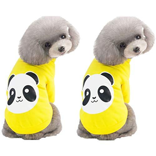 Einfachheit Muster Kostüm - YiiJee Mode Kleidung für Haustiere mit Karikatur Muster Drucken Stilvolle Einfachheit Welpen Kostüm (Stil 4, L)