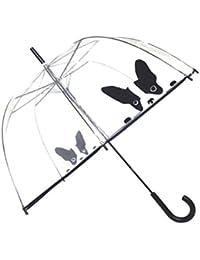 SMATI Parapluie femme cloche / dome transparent- ouverture automatique