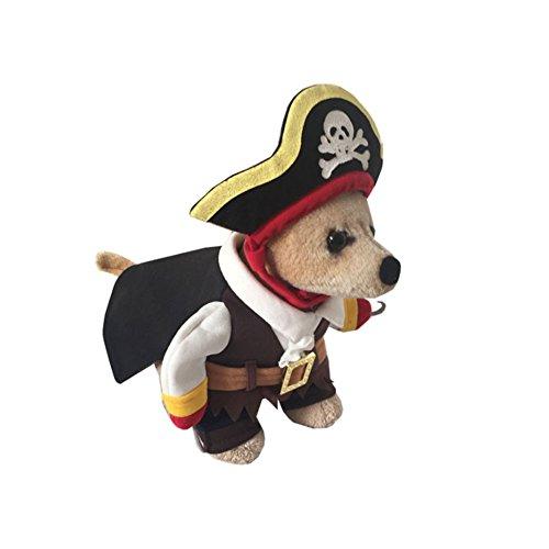 Piraten Kostüm Pet - Funny Halloween Piraten Cosplay Kleidung Pet Puppy Hund Katze Kostüme Kleidung Piraten Pullover Coat