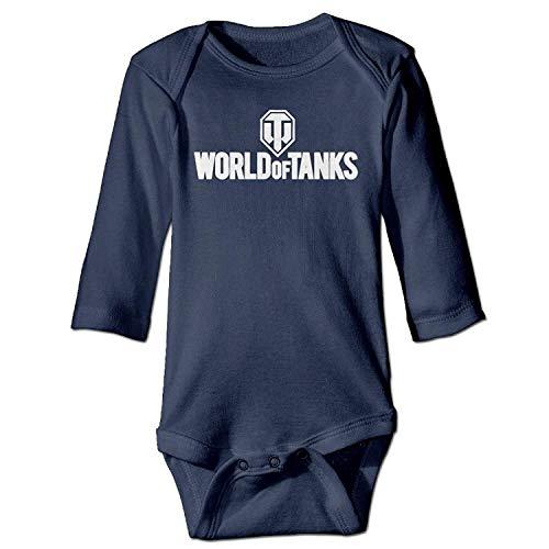 MSGDF Unisex Newborn Bodysuits World of Tanks War II Boys Babysuit Long Sleeve Jumpsuit Sunsuit Outfit Navy