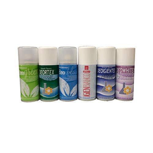 6 profumo deodorante spray tessuti igienizzante mangia odori fumo per abiti tende divani cassetti armadi speciale lavanderie idea regalo natale 150 ml