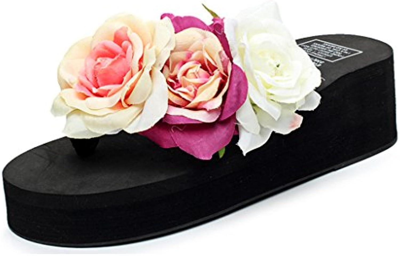 les sandales de tongs compensées wedge rose eagsouni clip clip clip toe chaussures de plage l'été romain pour les filles 0b6f24