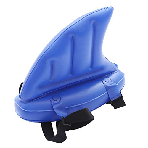 YHNJI Aufblasbare Schwimmflosse, 1 Stück Haifischflosse Pool-Spielzeug, PVC Kinder Haifischflosse Schwimm-Spielzeug Aufblasbares Pool-Spielzeug für Schwimmanfänger Schwimmhilfe für Kinder 35 x 35 cm