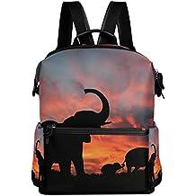 60780fd90 COOSUN Los Elefantes disfrutan de espectaculares Sunset School Mochila  Mochila de Viaje Multi