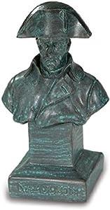 Katerina Prestige Busto Napoleón con Abrigo, Color Bronce Verde