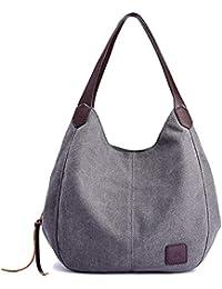 Canvas Handtasche Fashion Damen Schultertasche Multi-Beutel Tasche Henkeltaschen Shopper