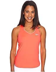 Nike W Nkct Pure - Top sin mangas para mujer, color naranja, talla M