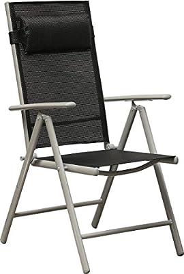 IB-Style - Top Gartenmöbel 15-tlg. Gartengarnitur Sitzgruppe Alu / Textilen - Tisch 150 x 90 cm Schwarzglas