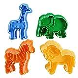 LLAni 4 UNIDS Animal Juego De Herramientas De Molde De Plastilina Kit Sand Kids Playdough Modelado Arcilla