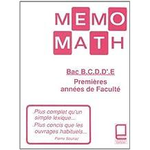 Amazon.fr : memo maths lycee s : Livres