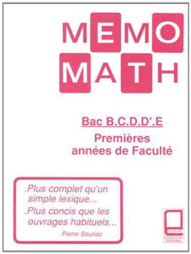 Mémo-math - Bac-Scientifiques