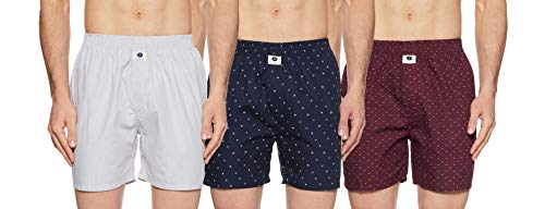 Amazon Brand- Symbol Men's Printed Boxers (Pack of 3)(SYMBXPO3-18_57572,DTX-1073 MOUR PEACH & FWC005908-BC9_Multicolor_Large)