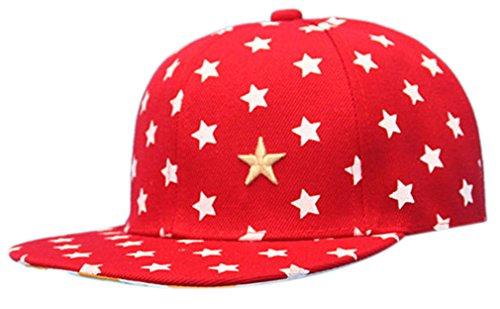 THENICE Kind Hip-Hop Sterne Cap Baseball Kappe Hut (Hip-Hop - Mütze Baby Rote