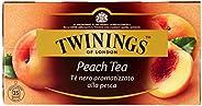 Twinings - Tè nero, aromatizzato alla pesca - 50 g