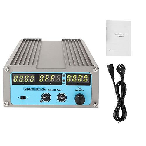 Netzteil variabel, KPS3010 0-30V 0-10A Ausgang einstellbar Digitales DC-Netzteil Experimentelles Schaltnetzteil 4-digitales Display 100-240V(EU plug)