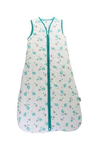Preisvergleich Produktbild Schlummersack Kinderschlafsack unisex Sommer 1.0 Tog 130cm/3-6 Jahre - Elefanten