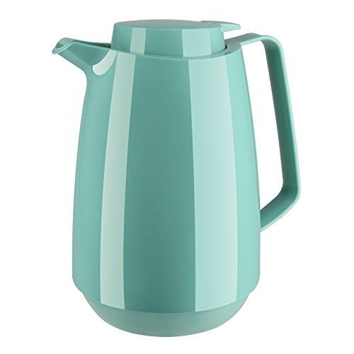 Emsa 515846 Isolierkanne momento coffee, 1 L, 100 % dicht, 12 Standard heiß/24 kalt , türkis