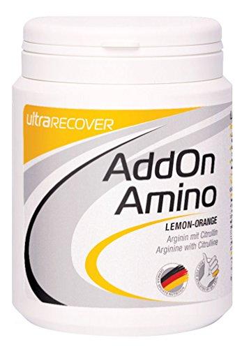 Ultra Sports Addon Lemon orange de aminé L-arginine avec citrulline 310g Boîte nouvelle recette