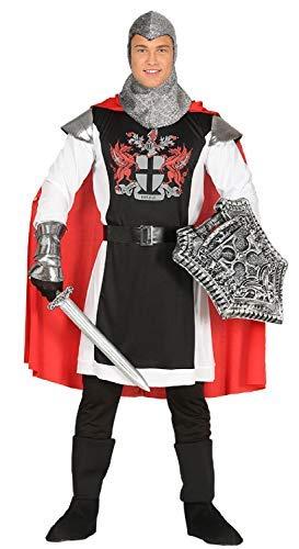 Fancy Me Herren Mittelalter Ritter Drachen Slayer Kreuzfahrer TV Buch Film Historisch Kostüm Kleid Outfit M L - Large