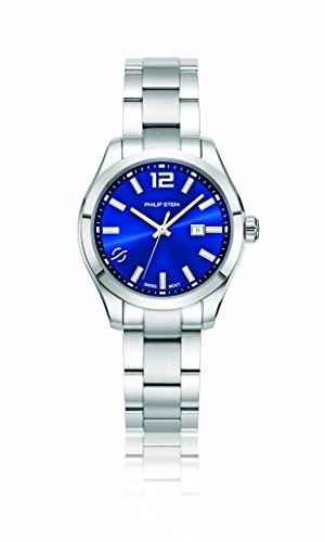 Philip Stein Women's 'Traveler' Swiss Quartz Stainless Steel Casual Watch, Color:Silver-Toned (Model: 91-CBL-SS)