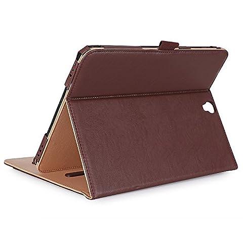 ProCase Samsung Galaxy Tab S3 9.7 Fall, Stand Folio Case Cover für Galaxy Tab S3 Tablette (9,7 Zoll, SM-T820 T825), mit mehreren Betrachtungswinkeln, Dokumentenkarte Tasche -Braun