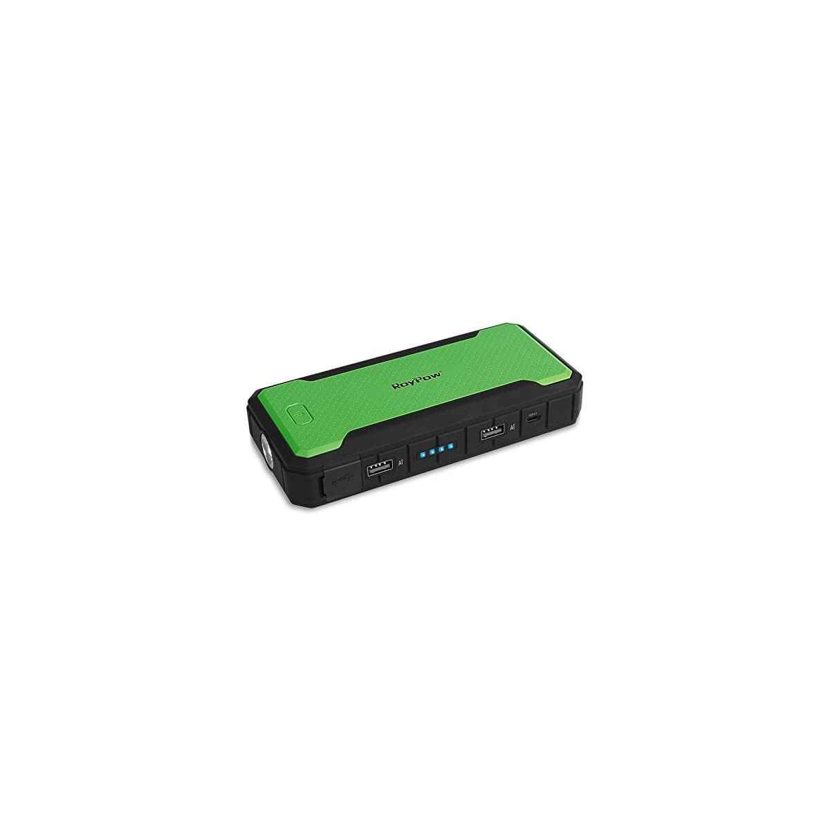 417Hvkc9lrL. SS1200  - RoyPow Arrancador de Salto de 12000 mAh de hasta 4.0L y 400A Cargador de Batería Externo Portátil & Power Bank, Ultraseguro, Garantía de 18 Meses (green)