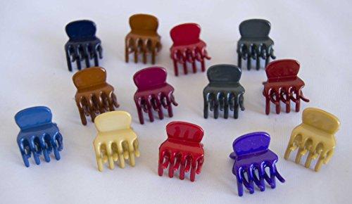Pack von 24kleinen 2cm Klammern in verschiedene Farben. Gratis Versand 72H