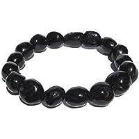 schwarzer Turmalin Schörl Edelstein Armband Nugget-Armband barock | 12-14 mm preisvergleich bei billige-tabletten.eu