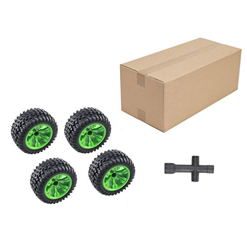 Elviray 4 pezzi generale 110mm rc pneumatici per jjr/c q39 q40 q46 wltoys l959 12404 fy-03 fy-04 1/12 off-road rc car truck parts wheel tire
