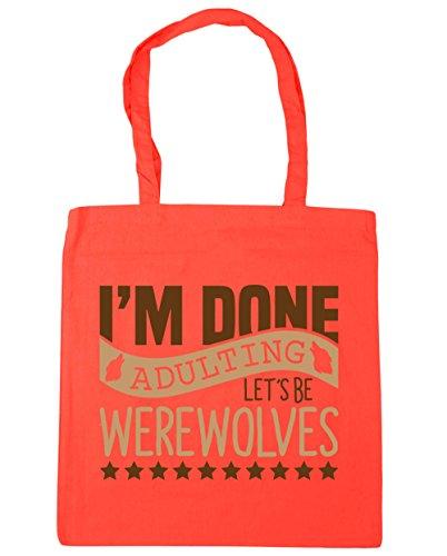 hippowarehouse-damen-strandtasche-gr-einheitsgre-korallenrot
