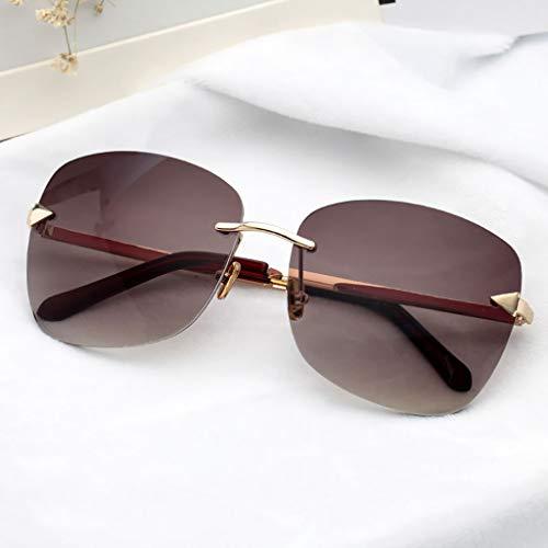Gububi UV-Schutz Sportbrillen randlose Sonnenbrillen Persönlichkeit Modebrillen Mode Outdoorbrillen VU-15 (C)