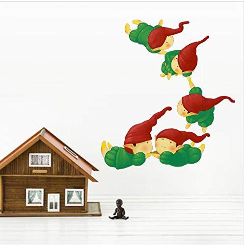 JXSTORE Wandaufkleber für Schlafzimmer Wohnzimmer Mädchen Junge Küche - Lustiges Fliegendes Kleines Weltmonster (Drucken Lustige Zu Halloween-karten)