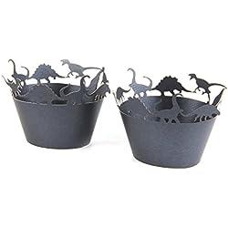 philna12aprox. 50pcs para tartas vasos de papel para cupcakes (dinosaurios)