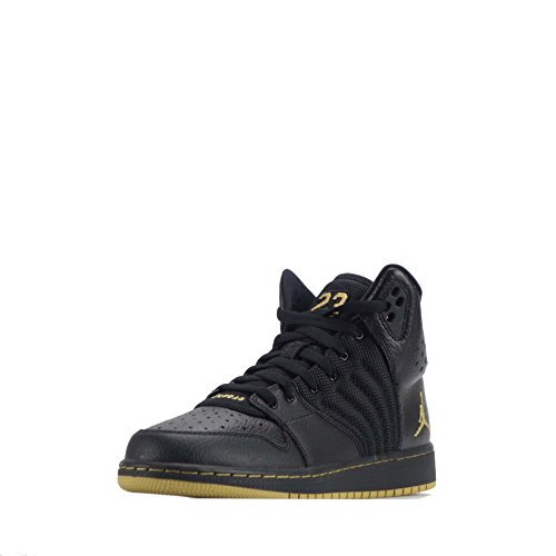 Nike Black / Mtlc Gold-Black, Scarpe da Basket Bambino Nero (Negro (Black / Mtlc Gold-Black))