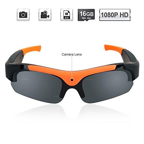 WISEUP Sport-Sonnenbrille mit Videokamera
