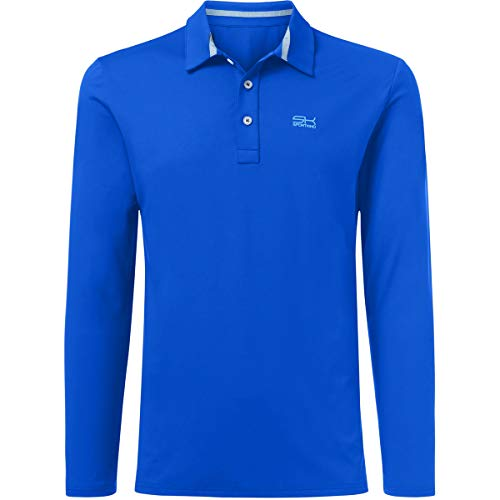 Sportkind Jungen & Herren Tennis/Golf/Sport Langarm Poloshirt, Kobaltblau, Gr. L