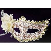 CHENFUI Pluma Artificial de la máscara de la máscara máscara de la Flor de la Media Cara de la Mascarada