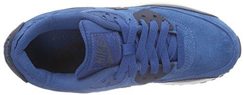 Nike Air Max 90 Leather, Scarpe da corsa Donna Blu (Blau (Brgd Bl/Mtlc Armry Nvy-Sqdrn B))