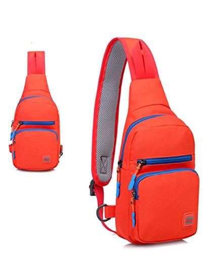 8de1279e7bac3 Jaimelavie Damen Herren Sling Rucksack Sling Bag Pack Sport Brusttasche  Handtasche Crossbody Bag Rucksack Backpack Wasserdicht Orange