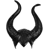 Latex Maleficent Hat Horns Evil Queen Custume Sombrero de Cosplay Halloween